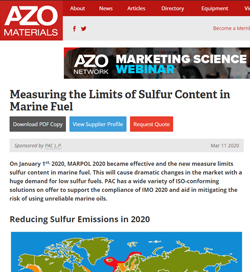 Measuring the Limits of Sulfur Content in Marine Fuel
